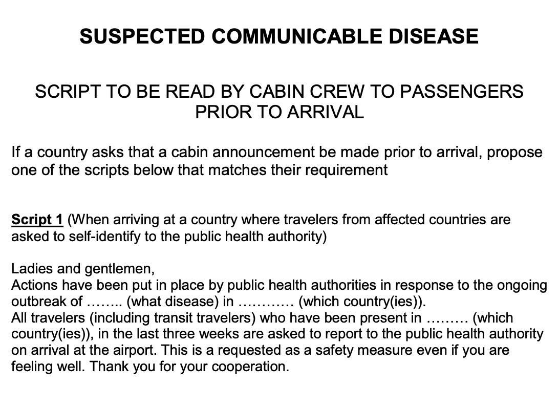 โรคติดต่อกับการบิน