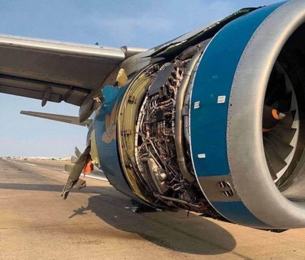 UNCONTAINED ENGINE FAILURE